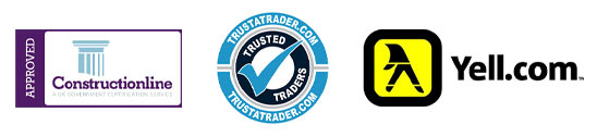 Yell Trust a trader and constructionline logos